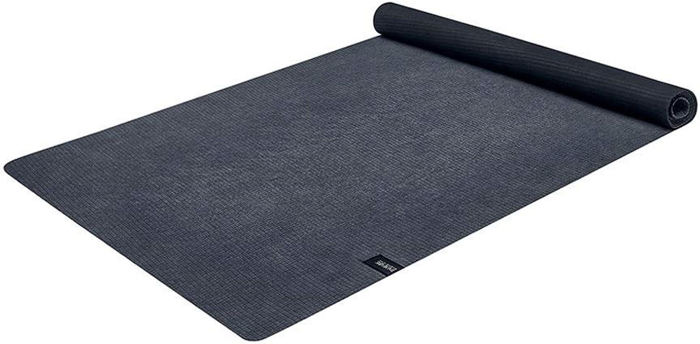 GONGFF Yogamatte, Faltbare und Lange Damen Yogamatte Gummi rutschfeste Fitnessmatte Sportmatte 183 \u0026 Times; 65cm, Dicke 2mm