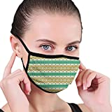 Fashion 3D Printed Face Cover,Colorful Tribal Ancient Local Motif Pattern Ethnic Print,Reusable Funny Dustproof Washable Face Adjustable Face_mask_Protect for Unisex Adult Men and Women