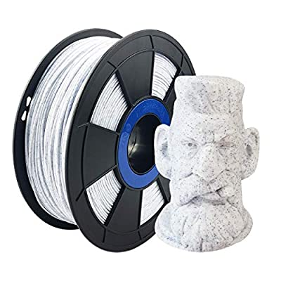 ZIRO PLA Stone Filament 1.75mm,3D Printer Filament PLA 1.75mm Blue and White Color 1KG(2.2lbs) - Blue and White