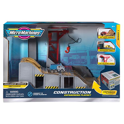 Micro Machines Core Playset, Construction - Expandable and Connectable to Other MM Sets, Includes One Exclusive Vehicle - Collect Them All