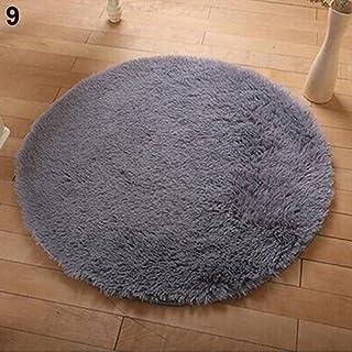 WYPDM Stuoie di Massaggio idrofobiche per Il Bagno della Doccia tappetini Rotondi in PVC Antiscivolo tappetini per lhome Hotel Trasparenti,Blu,D55CM