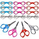 Folding Scissors Keychain 16 Pack Foldable Small Scissors Safety Small Sewing Scissor,Portable Travel Scissors Perfect Gift For Friends