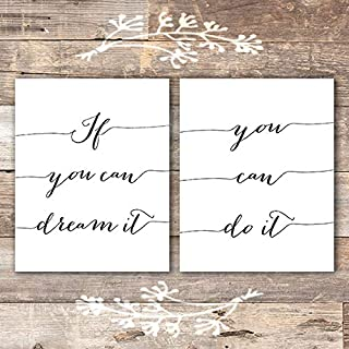 If You Can Dream It, You Can Do It Art Prints (Set of 2) - Unframed - 8x10
