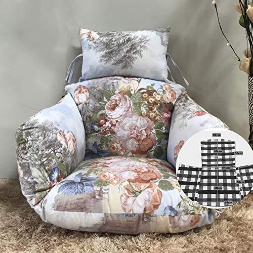 Mevida Schommelstoel, 1 mand, dik, groot, hangend eierhangmat, stoelkussen, afneembaar neststoelkussen, met kussen en geen stoel