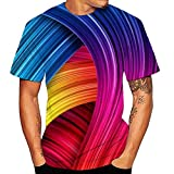 Unisex 3D Printed T-Shirt Casual Fuzzy Vortex Dizzy Sports Short Sleeve Funny Top