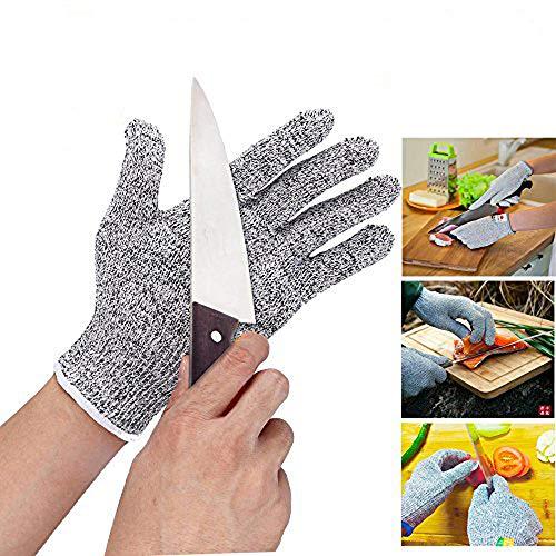 Sicherheitshandschuhe,Schnittsichere Handschuhe,Arbeitshandschuhe,Schnittschutz-Handschuhe küche, Schnittschutzhandschuhe,Schnittfestigkeit Stufe 5, 1Paar