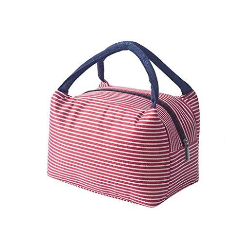 AQIN Kühltasche Klein,Mini Kühltasche,Isoliertasche,Thermotasche-Kühlbox Klein, Kühlrucksack-Tragbare Lunch Bag Lebensmittelbehälter Outdoor Haus Supplies für die Arbeit Schule (Rosa)