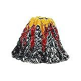 GSDGV Ornamento de volcán de pecera, decoración de volcán de acuario, paisajismo realista de pecera, volcán de tanque de peces con piedra de burbuja de aire para acuario (tamaño: S)
