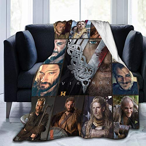 commix.x Vi-Ki-Ng-S Tv Shows Collage Blanket Soft Popular Character Throw Blanket Fleece Fuzzy Lightweight Blanket 80'X60'