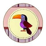 Posavasos Originales Loro Rayado Morado Juego de 6 Posavasos para Regalo Antideslizante Protección de Mesa Coasters para Bebidas frías y Calientes, Café, Vasos, Tazas 11cm