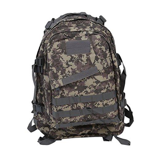 SODIAL(R) Militar tactico al aire libre 40L Mochila Mochila Senderismo camping Trekking Bolsa - camuflaje ACU