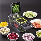 Coupe Légumes, Coupe à Fruits, Multifonctions Professionnel Manuel Kitchenaid Inox Appareil Mandoline de Cuisine Kit, Cubes...
