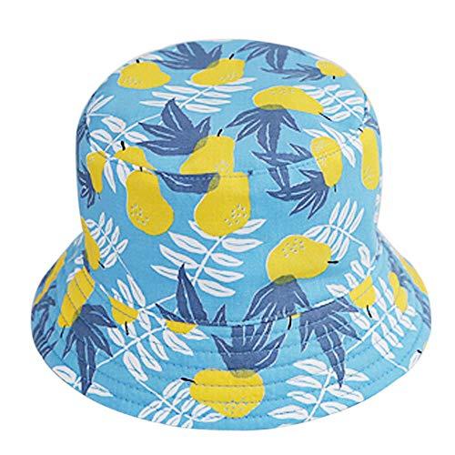 Chapeau de seau hawaïen pour enfants,Ewendy Bonnet de pêcheur à imprimé fruits poire bébé Bonnet de soleil en plein air de 3 mois à 5 ans