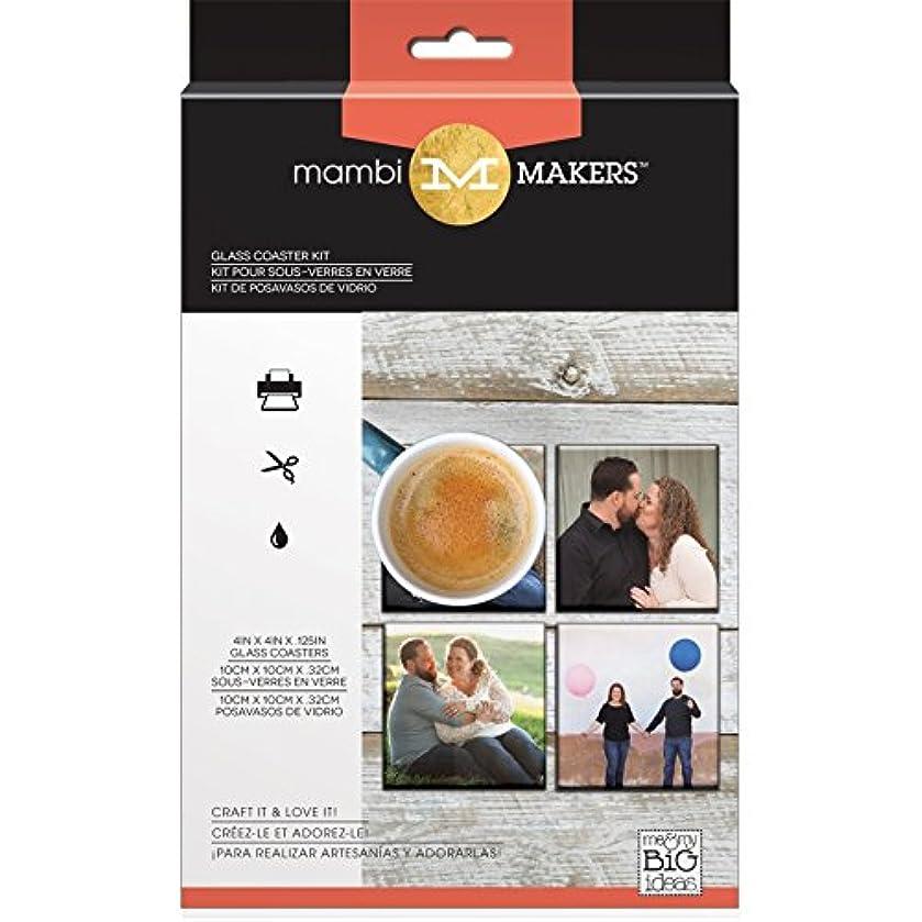 Me & My Big Ideas MAMBI Photo Kit Small Glass Coaster,