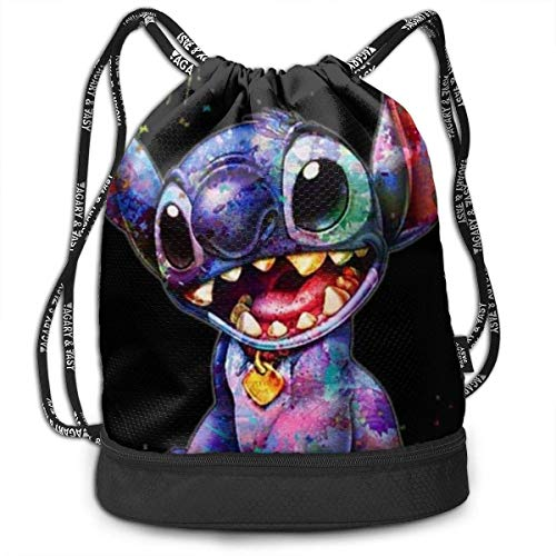 Etryrt Sacs à Cordon Sac à Dos Stylish Colorful Stitch Lightweight Sackpack Sport Gym Bundle Backpack