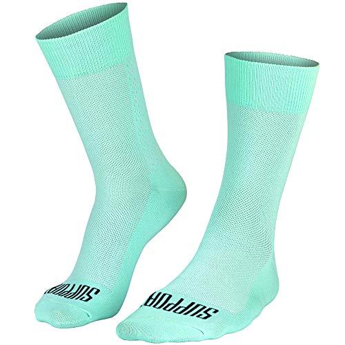 Support, calcetines de ciclismo para hombre, superligeros, tecnología transpirable, de fibra antideslizante,...