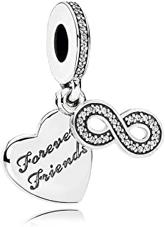 Pandora Forever Friends Silver Dangle Charm 791948CZ