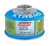Coleman C100 Xtreme Screw On Gas Cartridge, for Camping Stoves, Compact and Resealable Canister