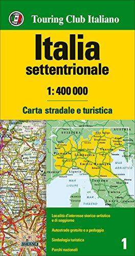 Italia settentrionale 1:400.000. Carta stradale e turistica [Lingua inglese]
