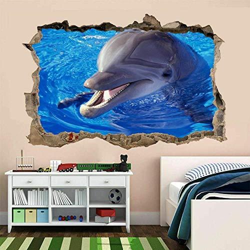Dolphin Wall Art Sticker Mural Wallpaper Kids Bedroom Home Office Decoration AS4