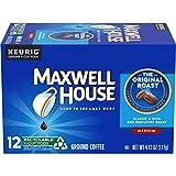 Maxwell House Original Roast Ground Coffee K Cups, Caffeinated, 12 ct - 4.12 oz Box (Pack of 6)