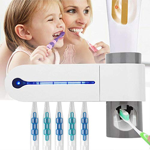 3 in 1 UV Ultraviolet Licht Antibacteriële Tandenborstel Automatische Tandpasta Dispenser Sterilisator Tandenborstelhouder Cleaner # 7