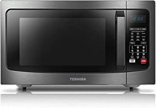 Toshiba EC042A5C-BS Microwave Oven with Convection Function Smart Sensor and LED Lighting, 1.5 Cu.ft, Black Stainless