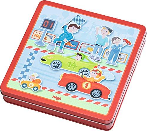HABA 301948 Magnetspiel-Box Flotte Flitzer
