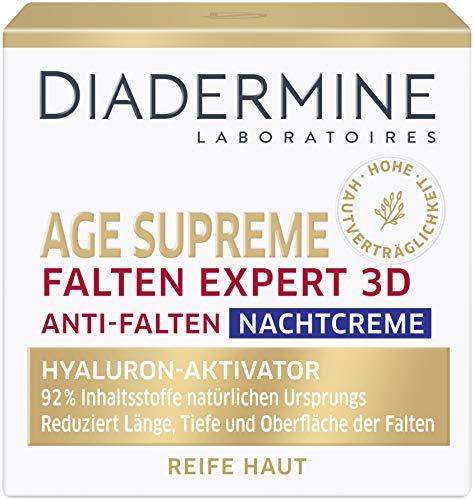DIADERMINE Age Supreme Falten Expert 3D Nachtpflege Anti-Falten Nachtcreme mit Hyaluron-aktivierenden Peptiden, 3er Pack (3 x 50 ml)