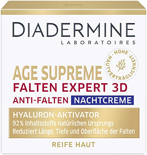 DIADERMINE Nachtcreme Falten Expert 3D Hyaluron-Aktivator, 3er Pack (3 x 50 ml)
