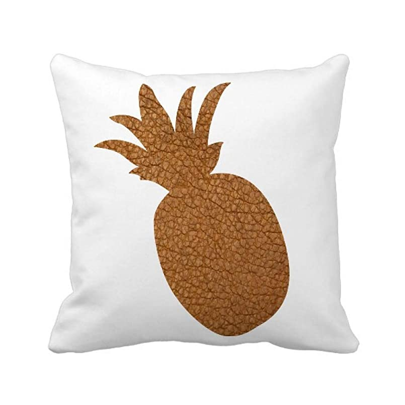粒すきサーマル革の抽象的なデザイン パイナップル枕カバー正方形を投げる 50cm x 50cm