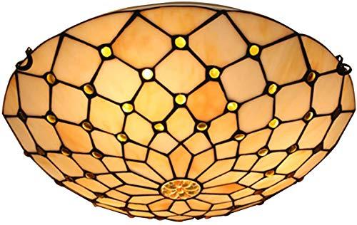 DALUXE Estilo de Tiffany luz de Techo LED Retro iluminación Pendiente, Creativo Manchado lámpara de Cristal con Iron Cuerpo de la lámpara para el Dormitorio de Estar