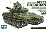 Tamiya 56043 56043-1 US M551 Sheridan Kit Full Option, Kit de Montaje, Escala 1:16, construcción de maquetas, Tanque RC, Instrucciones de Montaje ilustradas, Incluye Motor, Color marrón