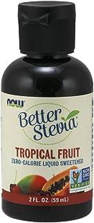 NOW Foods, BetterStevia Liquid, Tropical Fruit, Zero-Calorie, Healthier Sugar Alternative, Certified Non-GMO, 2-Ounce
