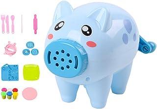 NUOBESTY 21 stycken knådning leksak set simulering gris lekdeg maskin ton deg verktyg plastilin modellering lekset kul kök...