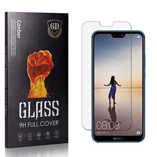 Conber Panzerglasfolie für Huawei P20 Lite, [4 Stück] 9H gehärtes Glas, Blasenfrei, Kratzfest, Hochwertiger Hülle Freundllich Panzerglas Schutzfolie für Huawei P20 Lite