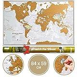 Weltkarte Zum Rubbeln mit Geschenkröhre - X-Large - 84x59