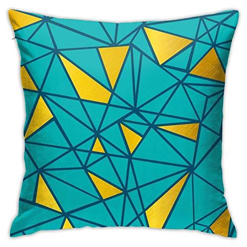 Kissenbezug Türkisblau und Goldfolie Kissenbezug Kissenbezug Dekorativ für Couch Sofa Schlafzimmer Wohnzimmer, 45 ×...