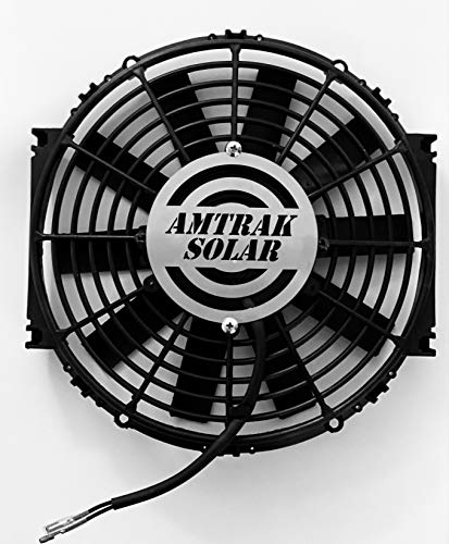 """Amtrak Solar's Powerful Attic Exhaust Fan Quietly Cools your House Ventilates your house, garage or RV and protects against moisture build-up (Fan Only, 12"""")"""