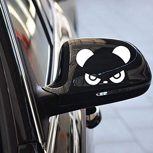 BLOUR Divertido Popular Cool Cute Funny Fashion Panda Coche Pegatinas diseño de Moda retrovisor 3D decoración Pegatina Coche Espejo Lateral calcomanías