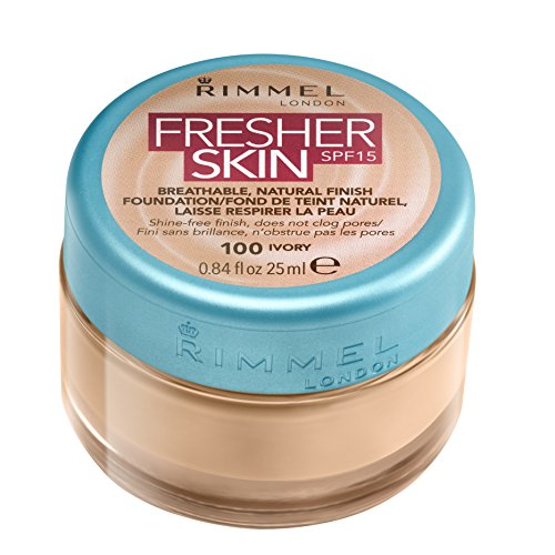 Rimmel London Fresher Skin Foundation, 100 Ivory