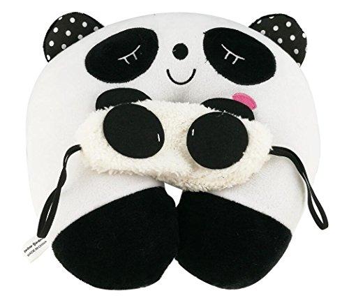 Süsse Panda Augenmaske & Nackenkissen, Nackenhörnchen, Reise Schlafmittel, Passen zu Erwachsenenen und Kinder