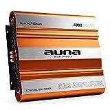 AUNA Amplificatore finale auto Hi-Fi car (4 x 1000 Watt max, 4 canali, MOSFET, Super Bass Boost)