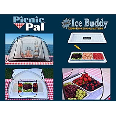 PicnicPal PP-100 Food Protecting Tent, Plus a Free Ice-Buddy (Inflatable Ice Tray) Combo