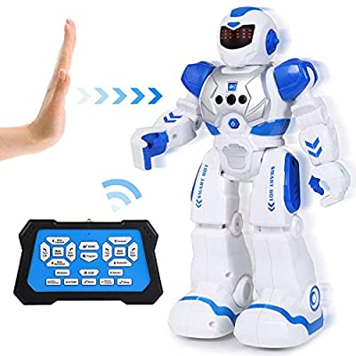 Toch Robot Toy, RC Gesture Sensing Intelligent Programmable with LED Eye for Kids Boy Girl Present