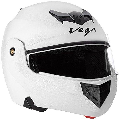 Vega Crux HE1284 Full Face Helmet (White, L)