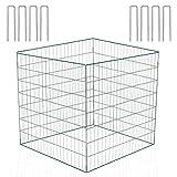 llevantics compostador de Alambre 90x90x70 cm, compostador de Metal para el jardín, Tiene Capacidad para 567 litros, Resistente al óxido y a la Intemperie, con 8 Ganchos de fijación en Forma de U
