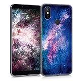 kwmobile Xiaomi Mi 6X / Mi A2 Hülle - Handyhülle für Xiaomi Mi 6X / Mi A2 - Handy Case in Galaxie Sterne Design Rosa Pink Dunkelblau