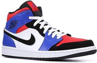 differently 5b917 e52ce Jordan Men s Air Jordan 1 Mid Basketball Shoe, White Black Hyper Royal