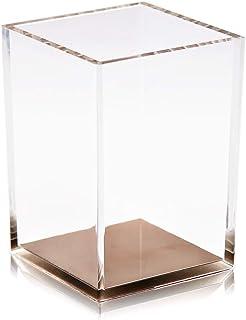 كوب حامل أقلام أكريليك من كويديال / أدوات مكتبية لحفظ أدوات التجميل ومنظم لفرش مستحضرات التجميل وصندوق لتخزين طاولة المكتب...